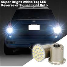 Super Bright White T25 22 LED Reverse or Signal Light Bulb (Pair)