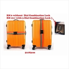 Tali Beg Bagasi Nylon luggage bag Cross secure Strap lock Tag baggage