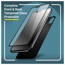 NEW HD Front and Back Tempered Glass and Camera Protector for iPhone X