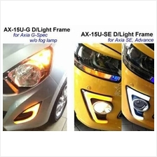 PERODUA AXIA E/G/SE Fog Lamp Cover Day Time Running Light + Signal