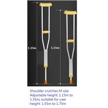 Shoulder crutches 1 pair M walking stick aid cane tongkat bahu ketiak