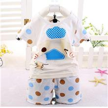00408 Short Sleeves Small Duck Baby Kids Clothing Set)