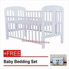 Royalcot R808 Baby Cot White + FREE Blue Mickey