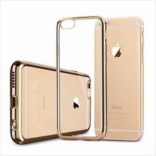 Iphone 7 7+ 8 8+ 6S 5S TPU Silicone Chromed Plating Frame Case Cover