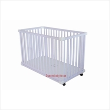 Baby Cot R8002 White side bed (70 x 130 cm)