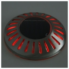 UFO LED SOLAR POWERED GROUND BURIED LIGHT WATERPROOF OUTDOOR WALL LAMP
