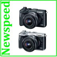 New Canon EOS M6 15-45mm Lens +16GB+Bag (MSIA) Free Battery + Adapter