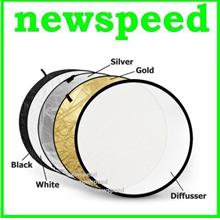 New 5 in 1 Foldable Flash light Reflector 110cm for Portraits 5in1