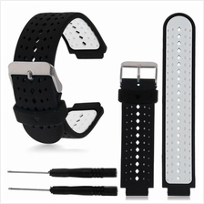 Garmin Forerunner 25 235 620 630 735XT Black Grey Watch Band/Strap