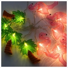 2M 10 LEDS FLAMINGO COCONUT TREE STRING FAIRY LIGHT BATTERY POWERED LA