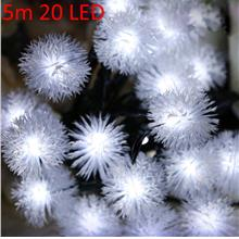 CHRISTMAS TREE DECORS 5M 20 LED SOLAR STRING (WHITE)