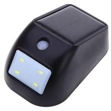 4 LEDS SOLAR POWERED PIR SENSOR WALL LIGHT FOR OUTDOOR (BLACK)