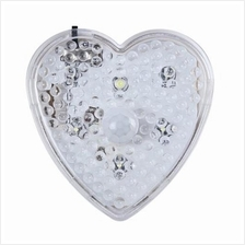 HEART SHAPE PLUG-IN AUTOMATIC PIR INFRARED LED MOTION SENSOR LIGHT NIG