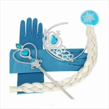 Frozen Princess Crown Wand Gloves Hair Accessories Costume Set