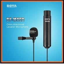 BOYA BY-M40D Omni-Directional Lavalier Microphone for Sony Panasonic
