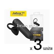 3 Units Jabra Talk 2 Bluetooth Headset with HD Voice Technology (2 yea