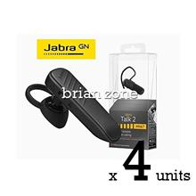4 Units Jabra Talk 2 Bluetooth Headset with HD Voice Technology (2 yea