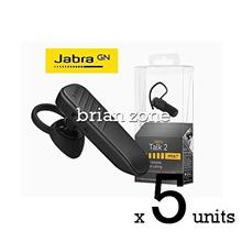 5 Units Jabra Talk 2 Bluetooth Headset with HD Voice Technology (2 yea