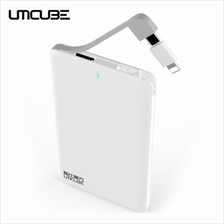 CUBE UMCUBE M46 ULTRA-THIN 4000MAH POWER BANK BUILT-IN MICRO USB CABLE