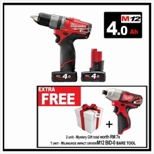 Milwaukee FUEL Battery Cordless Impact Drill Driver M12 CPD-402C & BID