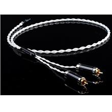 Copper Colour PI Silver Plated OCC 3.5mm to RCA cable 1 meter