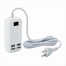 4 - Ports 15W High Compatibility USB Desktop Charger for iPad / iPhone