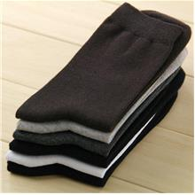 3 Pairs Men Casual Cotton Socks Mixed Color (Ship with Pos Laju))
