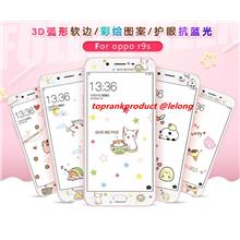 OPPO R9S / Plus 9H Cartoon Anti-Blue Tempered Glass Screen Protector
