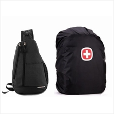 SwissGear Crossbody Messenger Bag & Computer Backpack Rain Cover