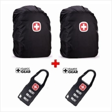 SwissGear Backpack Rain Cover (2 pcs) + 3 Digit Password Lock (2 pcs)