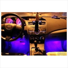 Car Interior LED Blue Glow Mood Light Floor Lamp
