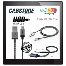 ★ CABSTONE Cable with textile sheath Micro USB 0.3 / 1 / 2 / 3 M