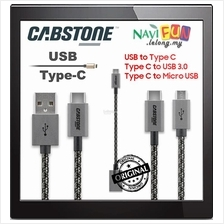 ★ CABSTONE Charge/Sync Data Cable with textile sheath USB-C