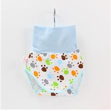 Baby Belly Protection Short Blue Footprint Cute Pants)