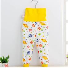 Baby Belly Protection Long Yellow Lollipop Cute Pants)