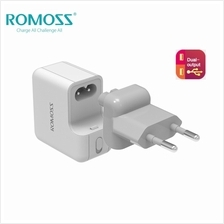 ROMOSS ICHARGE 12S 2.1A/5V DUAL USB TRAVEL AC ADAPTER - WHITE [CLEARAN