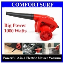 Portable 1000w Electric Blower  & Vacuum Powerful Air Blowing Cleaner