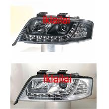 SONAR Audi A6 '97-03 Projector Head Lamp R8 DRL+LED Corner