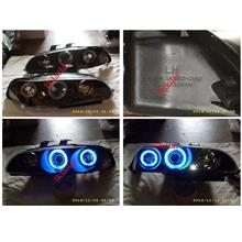 SONAR Honda Civic EG '92-95 4D Blue CCFL Ring Projector Head Lamp