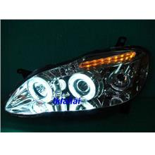 Toyota ALTIS '01-'07 CCFL Head Lamp Wirh Rim[Chrome/Black Base]