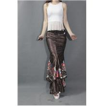 [CM35203BN] Elegant Skirt Brown)