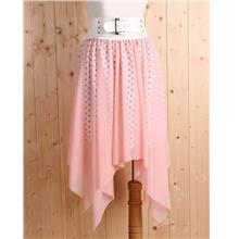 Korea Fashion~Elegant Irregular Skirt (Pink))