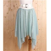 Korea Fashion~Elegant Irregular Skirt (Bean Green))
