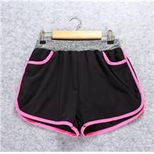 Quick Dry with Inner Ladies' Sport Shorts (Rose Red))