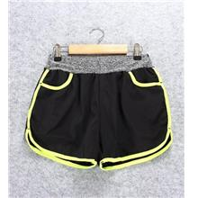 Quick Dry with Inner Ladies' Sport Shorts (Yellow))