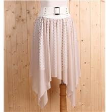 Korea Fashion~Elegant Irregular Skirt (Khaki))