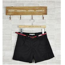 Plated Shorts-With Belt (Black))