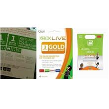 Xbox Live 12 months Gold Membership (US/Euro/Asia)