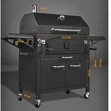 New Deluxe Design Multi-functional Charcoal BBQ Grill