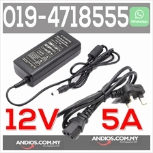 12V 5A AC/DC Power Adapter For CCTV Camera/LED light